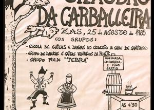 Cartel Festa Carballeira 1985