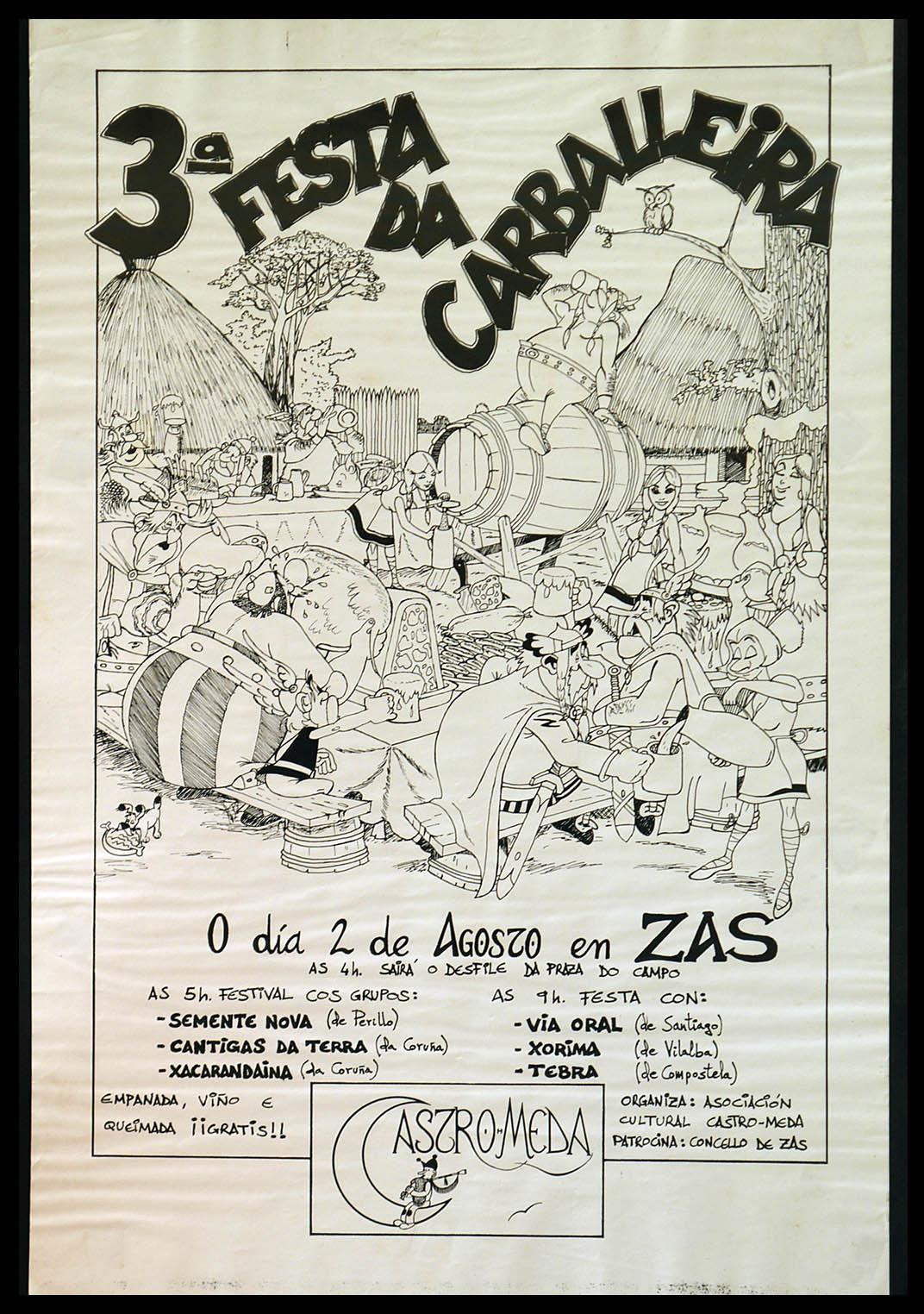 Cartel Festa Carballeira 1986