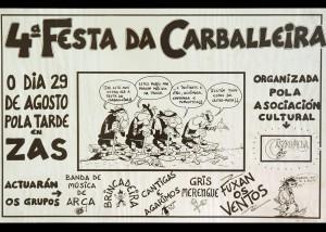 Cartel Festa Carballeira 1987