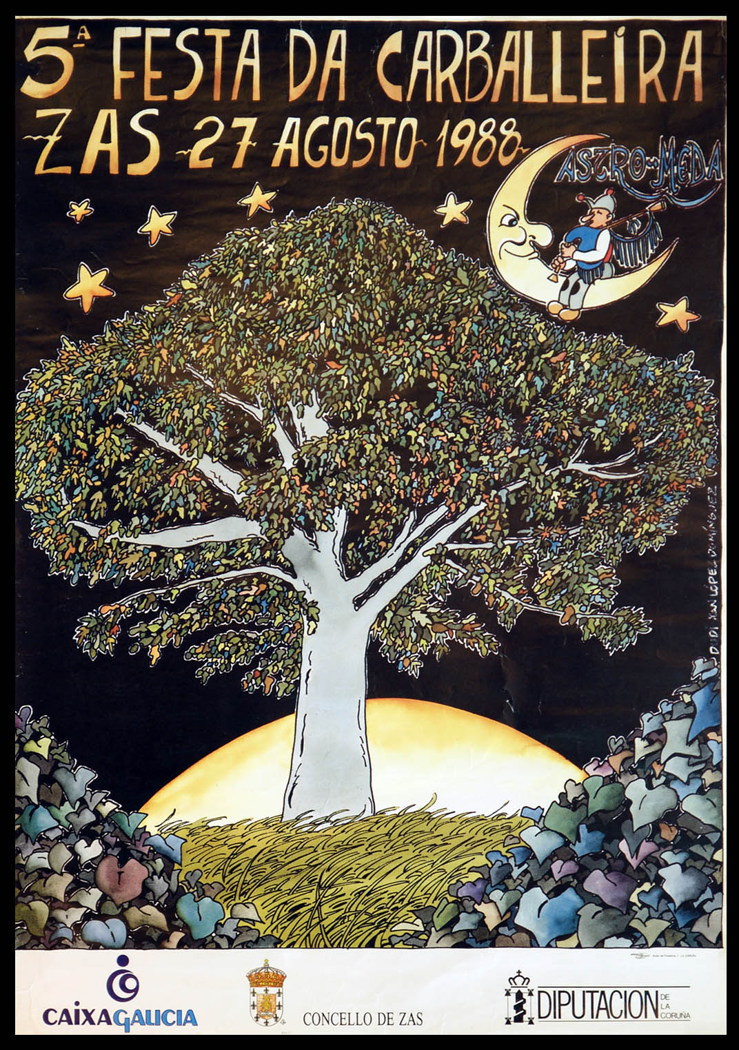 Cartel Festa Carballeira 1988