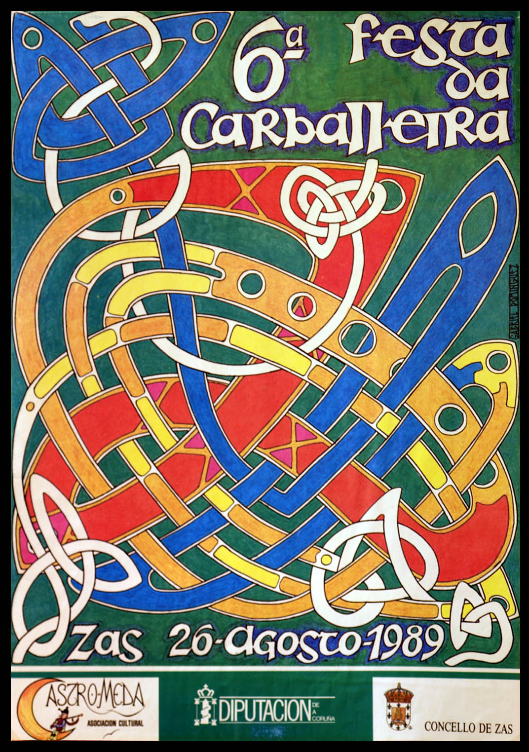 Cartel Festa Carballeira 1989