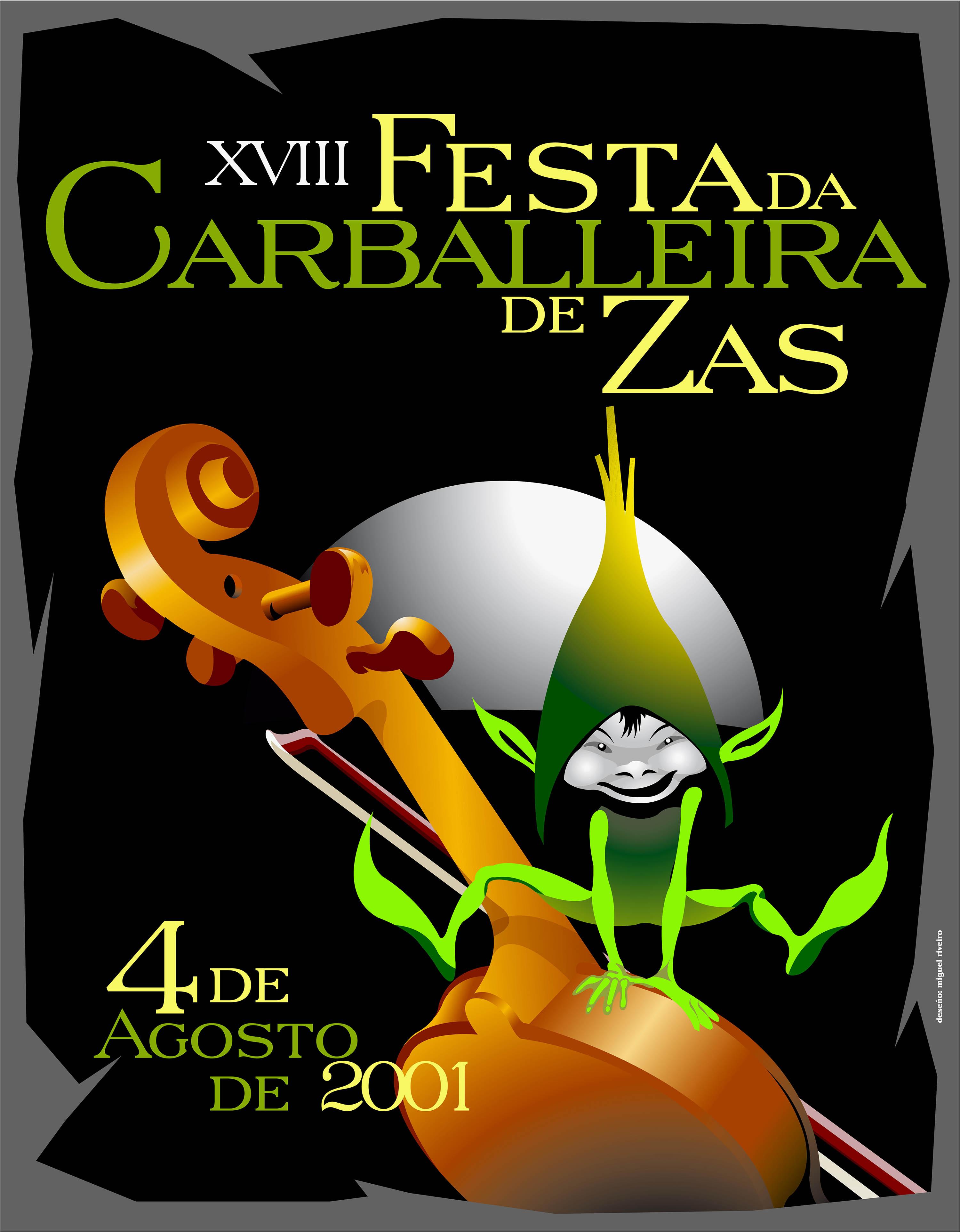 Cartel Festa Carballeira 2001