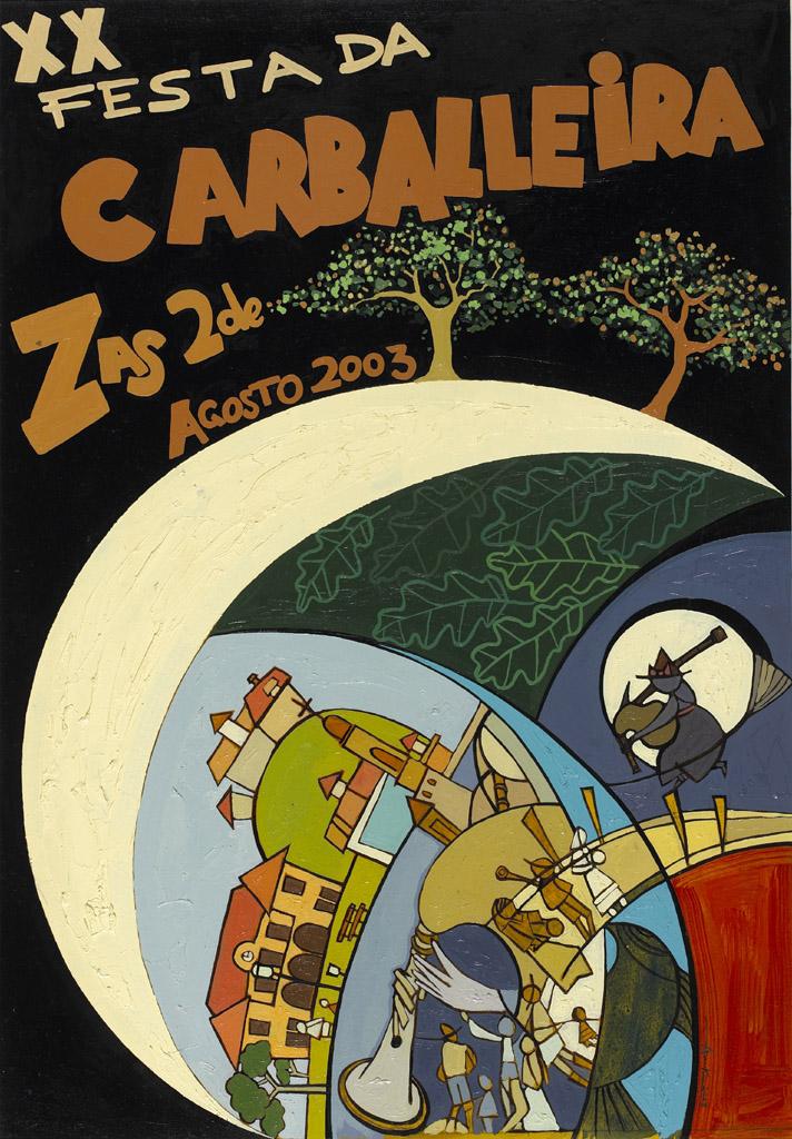Cartel Festa Carballeira 2003