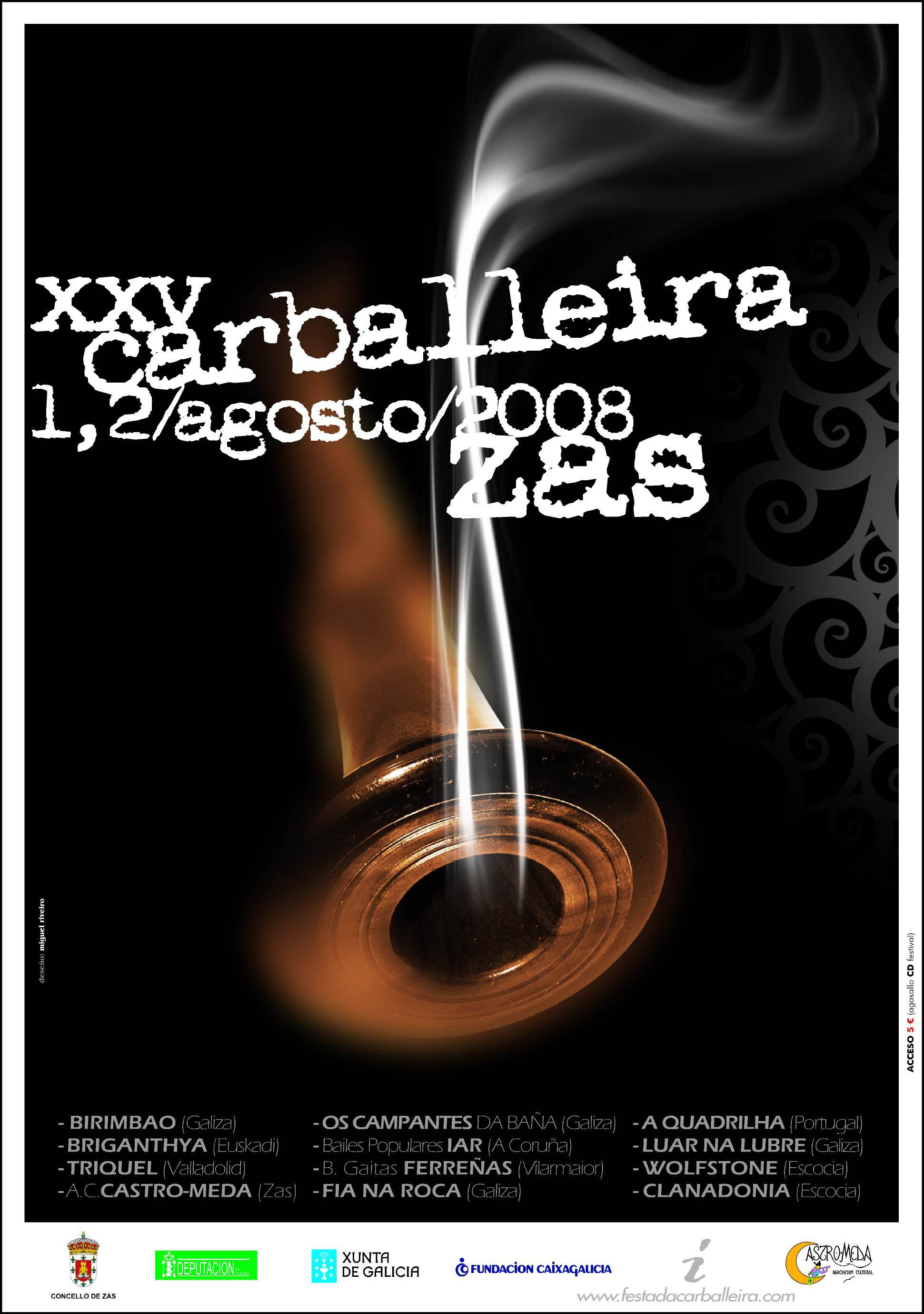 Cartel Festa Carballeira 2008