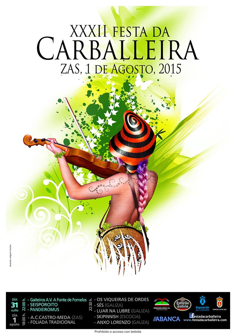 Cartel Festa Carballeira 2015