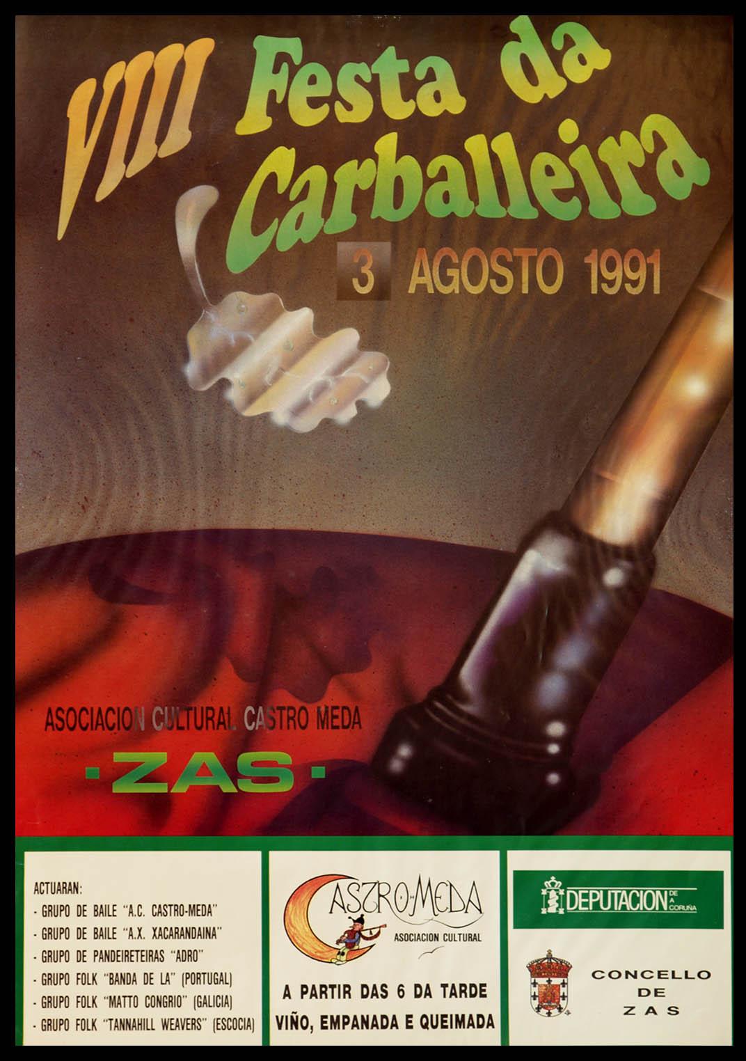 Cartel Festa Carballeira 1991