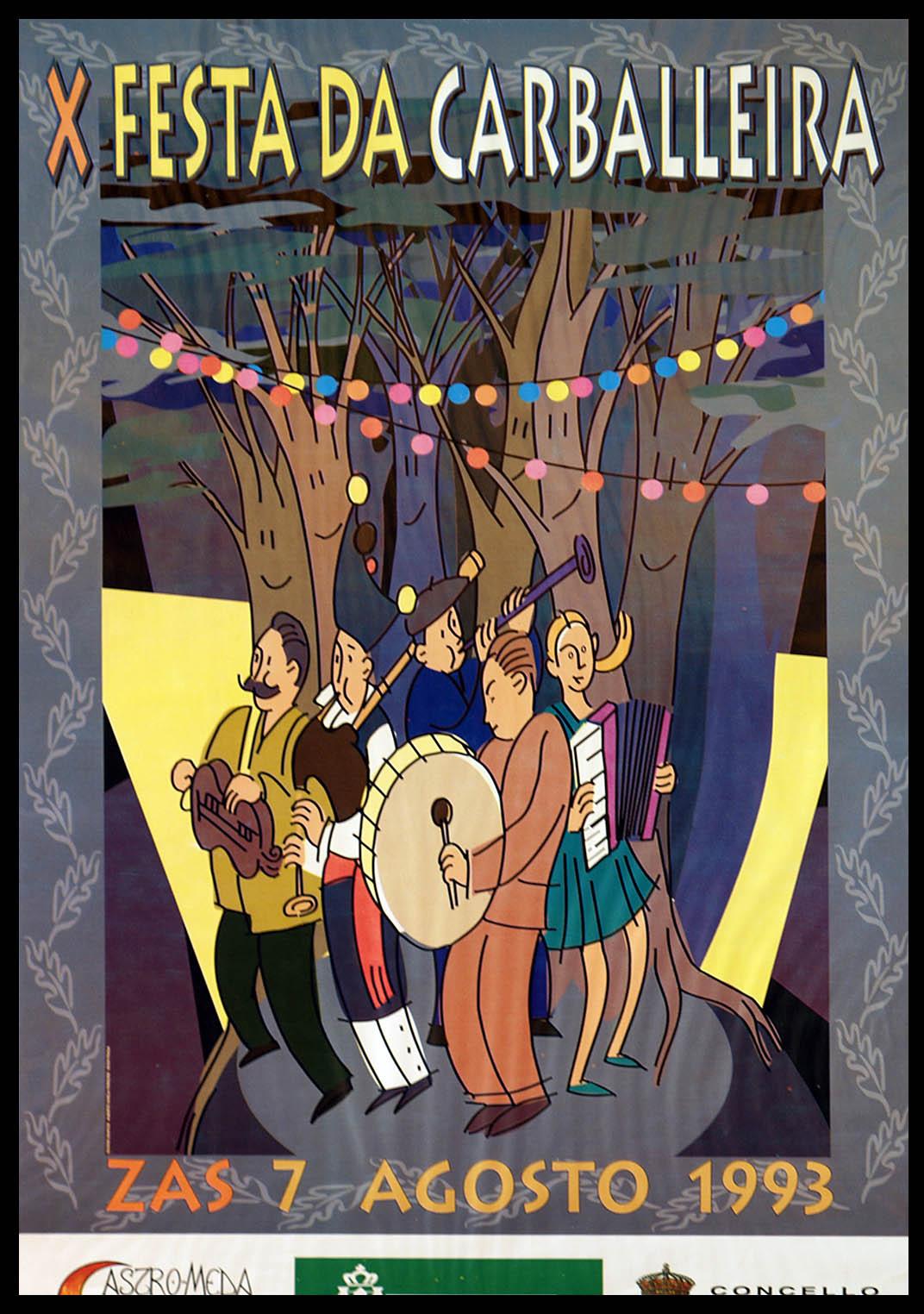Cartel Festa Carballeira 1993