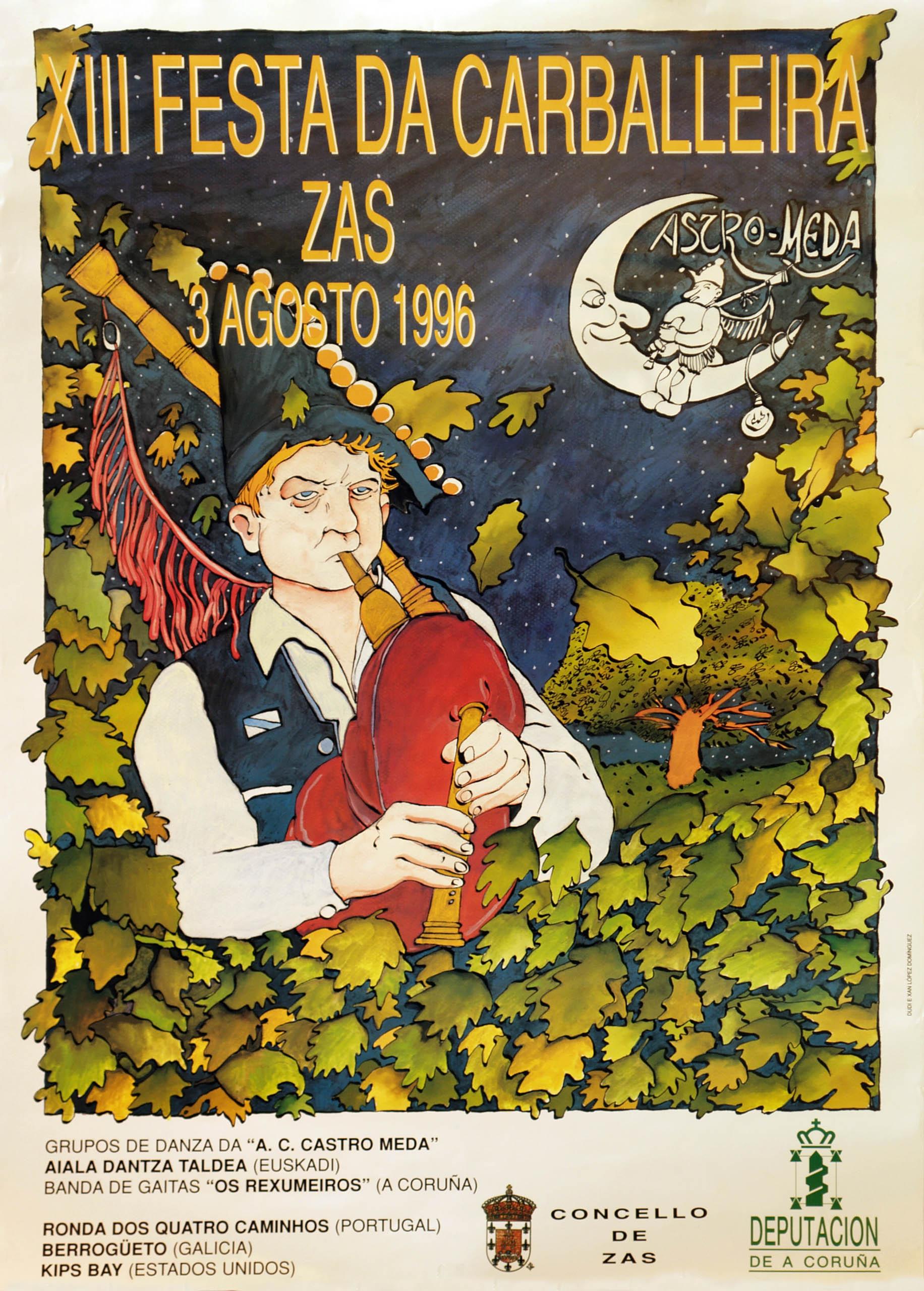 Cartel Festa Carballeira 1996