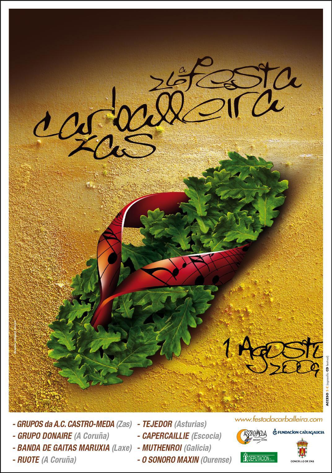 Cartel Festa Carballeira 2009